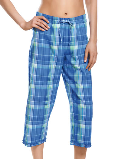 Princess Plaid Sleep Capri (1 of 1)