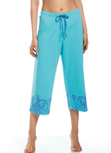 Jockey® Turquoise Twist Sleep Capri (1 of 1)