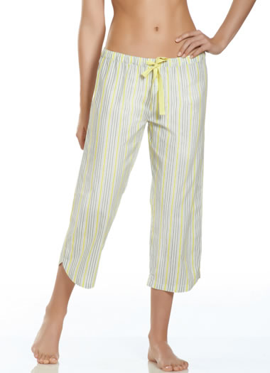 Jockey® Summer Bouquet Striped Sleep Capri (1 of 1)