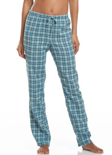 Jockey® Green Plaid Flannel Pant