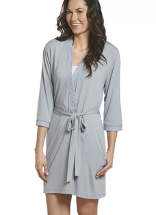 Jockey® Cotton Modal Eyelet Trim Robe