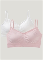 The Jockey Modern Micro Crop Bra provides breathable comfort with a Seamfree design and silky-soft microfiber fabric. Adjustable straps and removable cups offer a customizable fit and a wide bottom band lends light support.