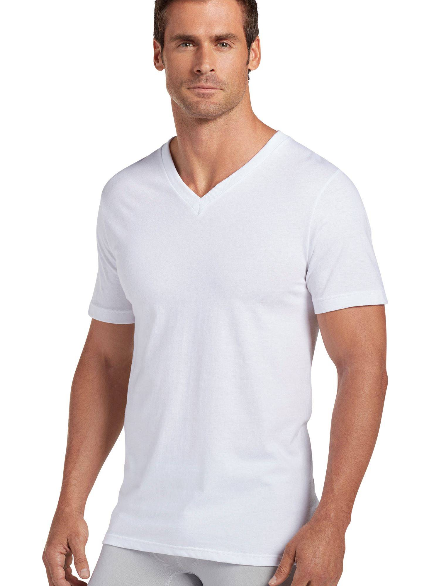 Jockey mens big tall classic v neck t shirt 6 pack value for Large v neck t shirts