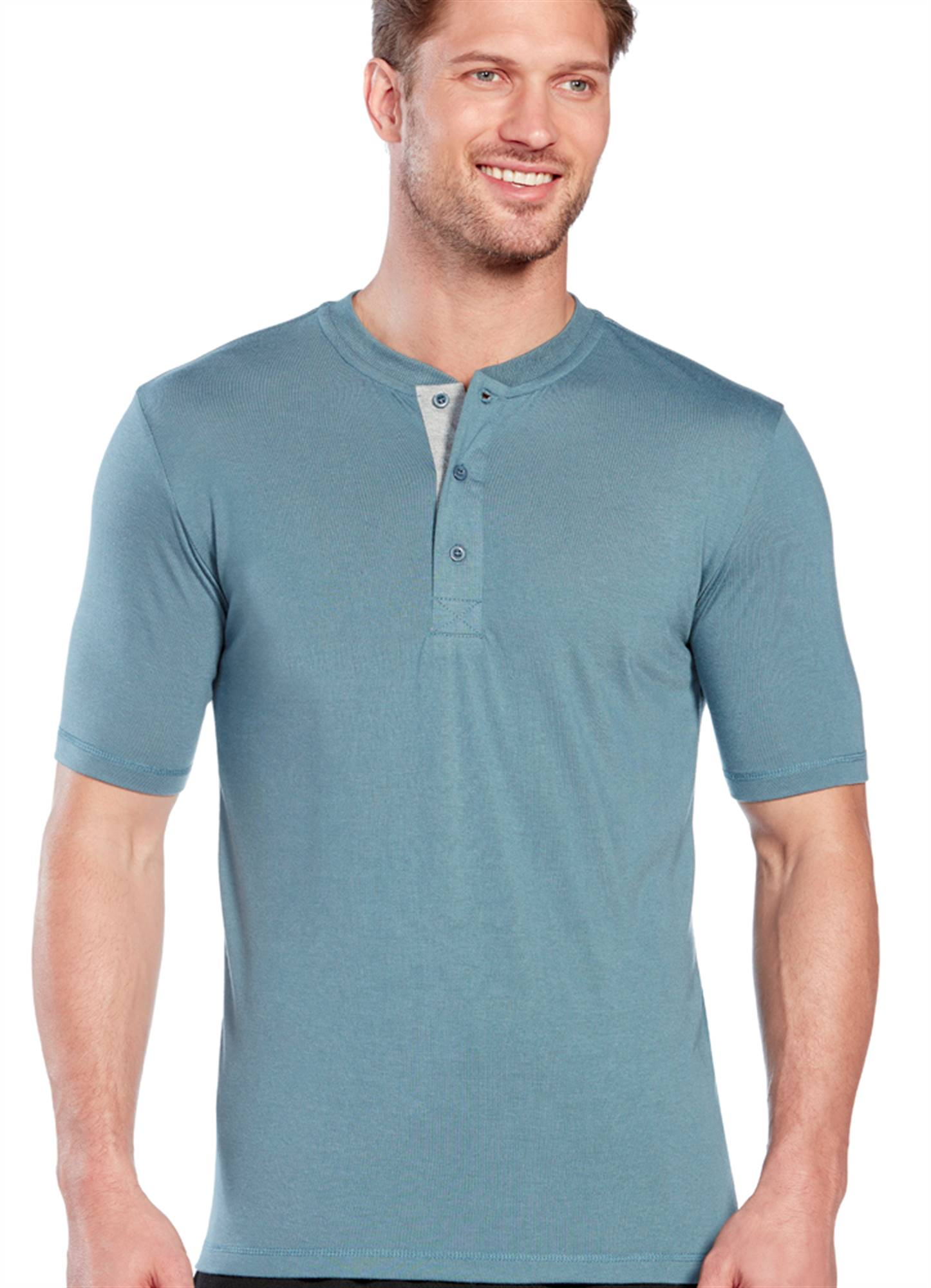Jockey Mens Soft Knit Henley Tee Sleepwear Shirts