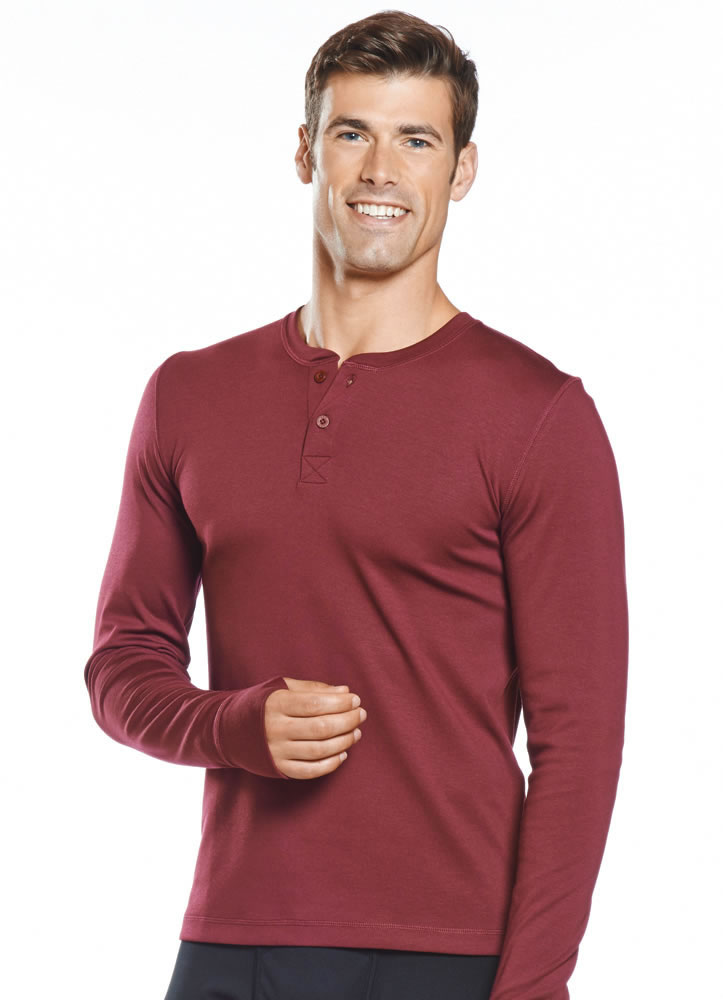 Jockey Mens Long Sleeve Henley