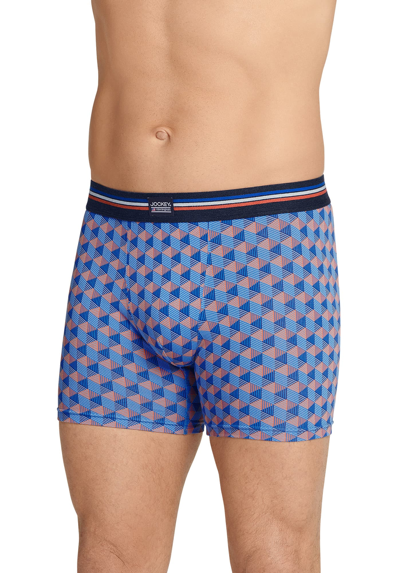 3Pk. Jockey Mens Stretch No-Fly Boxer Briefs